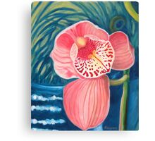 Lonely orchid Canvas Print