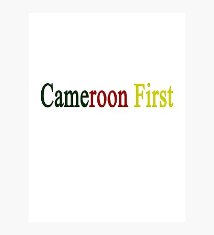 Cameroon First  Photographic Print