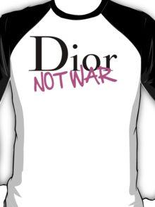 Dior Not War Pink T-Shirt