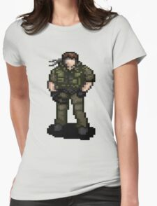 Solid Snaking Metal Gear Womens Fitted T-Shirt