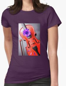 Artistic Violin Womens Fitted T-Shirt