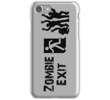 ZOMBIE EXIT SIGN by Zombie Ghetto iPhone Case/Skin