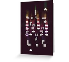 War of the 8Bit Worlds Greeting Card