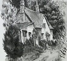 Devon cottage. by Robert David Gellion