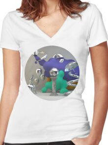 Poly Fumes 01 Women's Fitted V-Neck T-Shirt