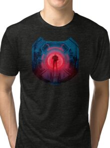 Master Chief and Evil Monitor  Tri-blend T-Shirt