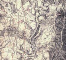 Civil War Maps 0045 Antietam Sticker