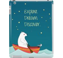 Polar bear and Bird on a boat  iPad Case/Skin