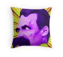 Nietzsche Burst 4 - by Rev. Shakes Throw Pillow