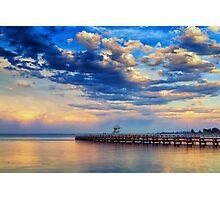 Geelong Sunset Eastern Pool Photographic Print