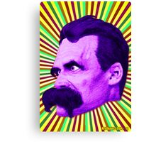 Nietzsche Burst 5 - by Rev. Shakes Canvas Print
