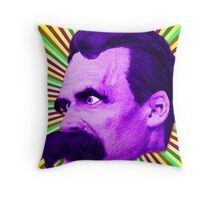 Nietzsche Burst 5 - by Rev. Shakes Throw Pillow