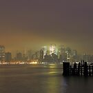 Fog Bound Manhattan On The Hudson by pmarella