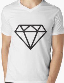 Black Diamond Mens V-Neck T-Shirt
