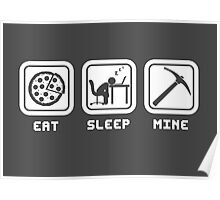 Eat, Sleep, Mine Poster