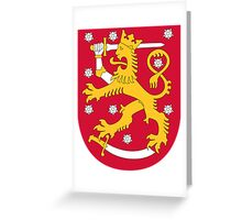 Coat of Arms of Finland  Greeting Card