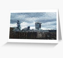 Landscape Buildings Extrude Greeting Card