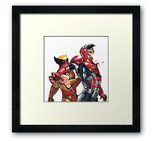 Daken Dark Wolverine and The Iron Patriot Norman Osborn Framed Print