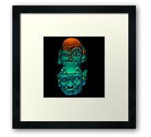 Gal forsker (Mad scientist) Framed Print