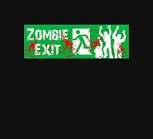 ZOMBIE EXIT SIGN by Zombie Ghetto Women's Fitted Scoop T-Shirt