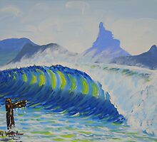 """""""Mount Warning, from The Wreck"""" by Norval Watson"""