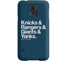 Loyal to New York (White Print) Samsung Galaxy Case/Skin