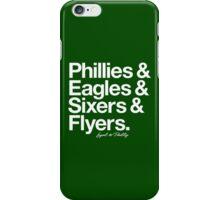 Loyal to Philadelphia (White Print) iPhone Case/Skin