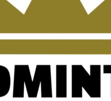 Badminton king champion Sticker