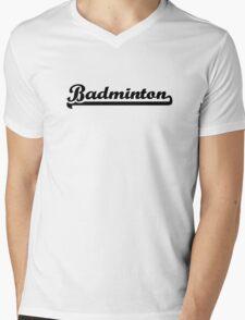 Badminton Mens V-Neck T-Shirt
