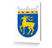 Coat of arms of Åland Greeting Card