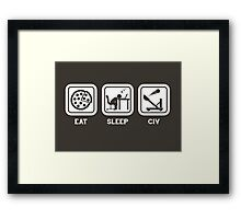 Eat, Sleep, Civ Framed Print