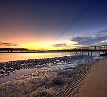 Urunga Heads Sunrise by Ryan Hasselbach