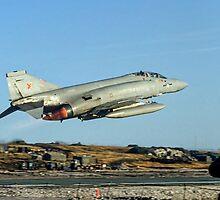 McDonnell F-4M Phantom FGR.2 XV495/N taking off on CAP by Colin Smedley