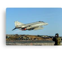 McDonnell F-4M Phantom FGR.2 XV495/N taking off on CAP Canvas Print