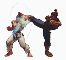Ryu and Akuma Street Fighter by fabiobatt