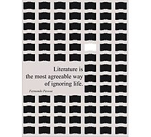 The most agreeable way of ignoring life! Photographic Print