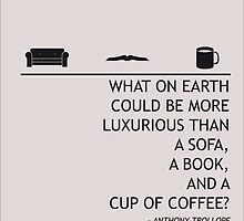 A Sofa, a Book, and a Cup of Tea by sophieresia