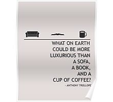 A Sofa, a Book, and a Cup of Tea Poster