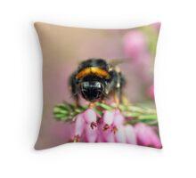 Early Bumblebee Throw Pillow