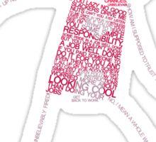 Regular Show / Benson Typography Tee Sticker