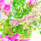 Thank You Greeting Card - Roses in Bouquet by MotherNature