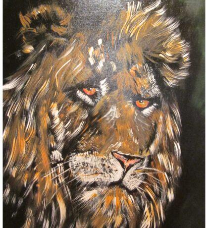 African Male Lion Sticker