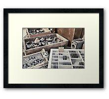 Old letterpress stuff Framed Print