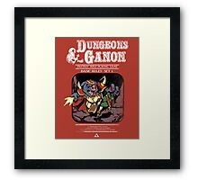 Dungeons and Ganon Framed Print