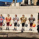 Footballers in Glebe by Marlene Hielema