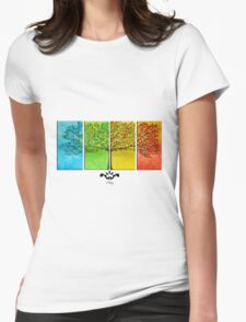 The colorful tree Womens Fitted T-Shirt