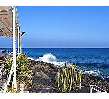 Costa Teguise Beach Restaurant For Shulie Photographic Print
