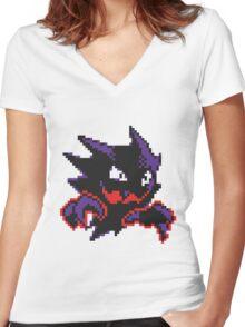 Pokemon - Haunter Sprite Women's Fitted V-Neck T-Shirt