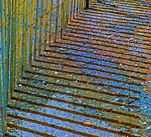 Colorful Fence by Gilda Axelrod