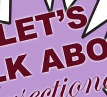 Let's talk about intersectionality  Sticker